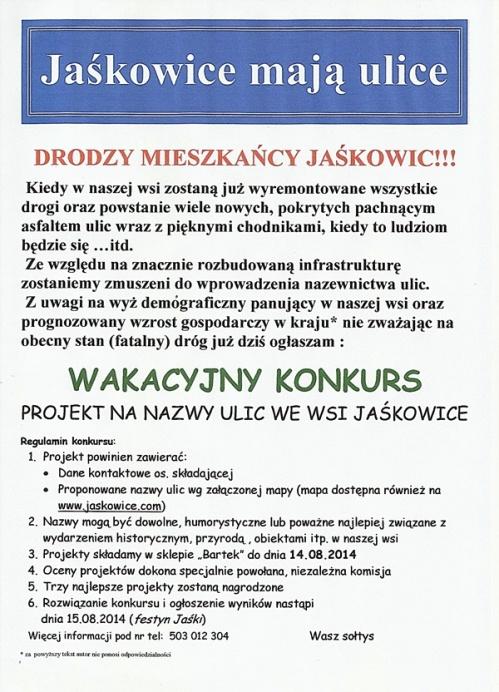 Konkurs na nazwy ulic w Jaśkowicach.jpeg