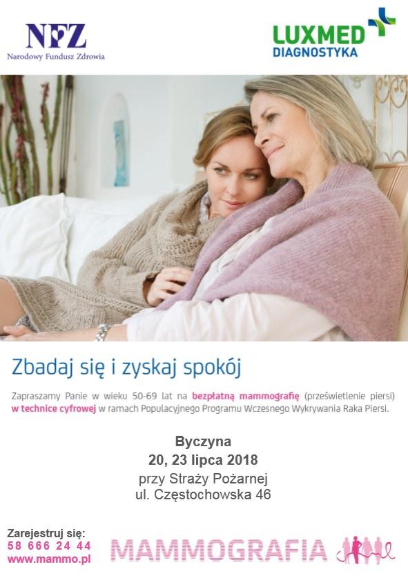 Badania mammograficzne w Byczynie - 20, 23 lipca 2018 r..jpeg