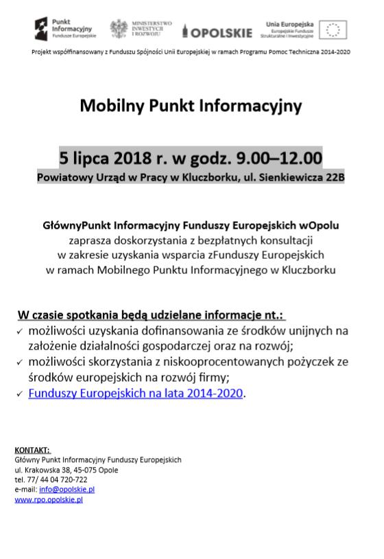Mobilny Punkt Informacyjny w Powiatowym Urzędzie Pracy w Kluczborku w dniu 5 lipca 2018 roku.png