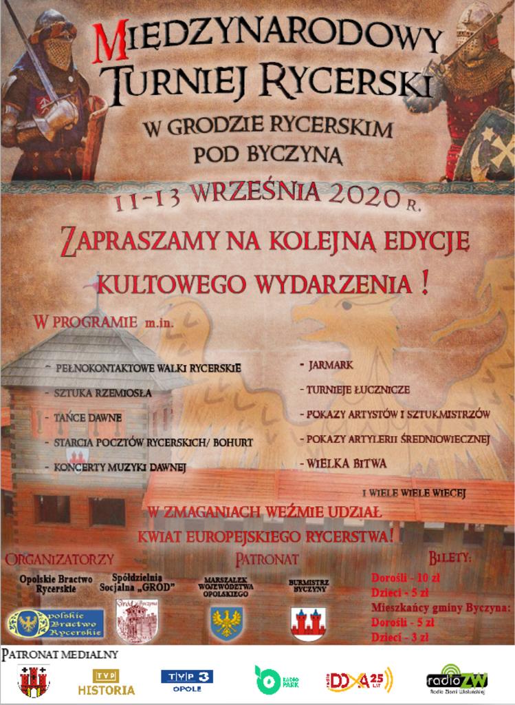 Plakat Byczyna IX 2020 rycerze.png