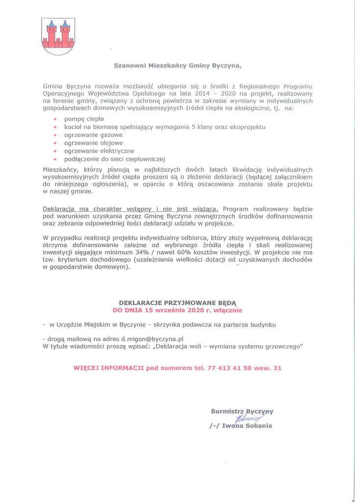 Informacja o naborze deklaracji woli przystąpienia do projektu RPO Województwa Opolskiego działanie 5.5. Ochrona Powietrza-1.jpeg