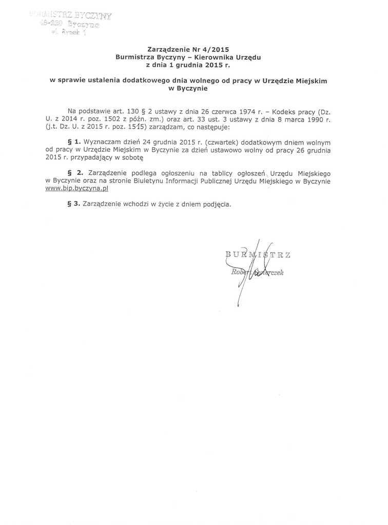 Zarządzenie Burmistrza z dnia 01.12.2015.jpeg