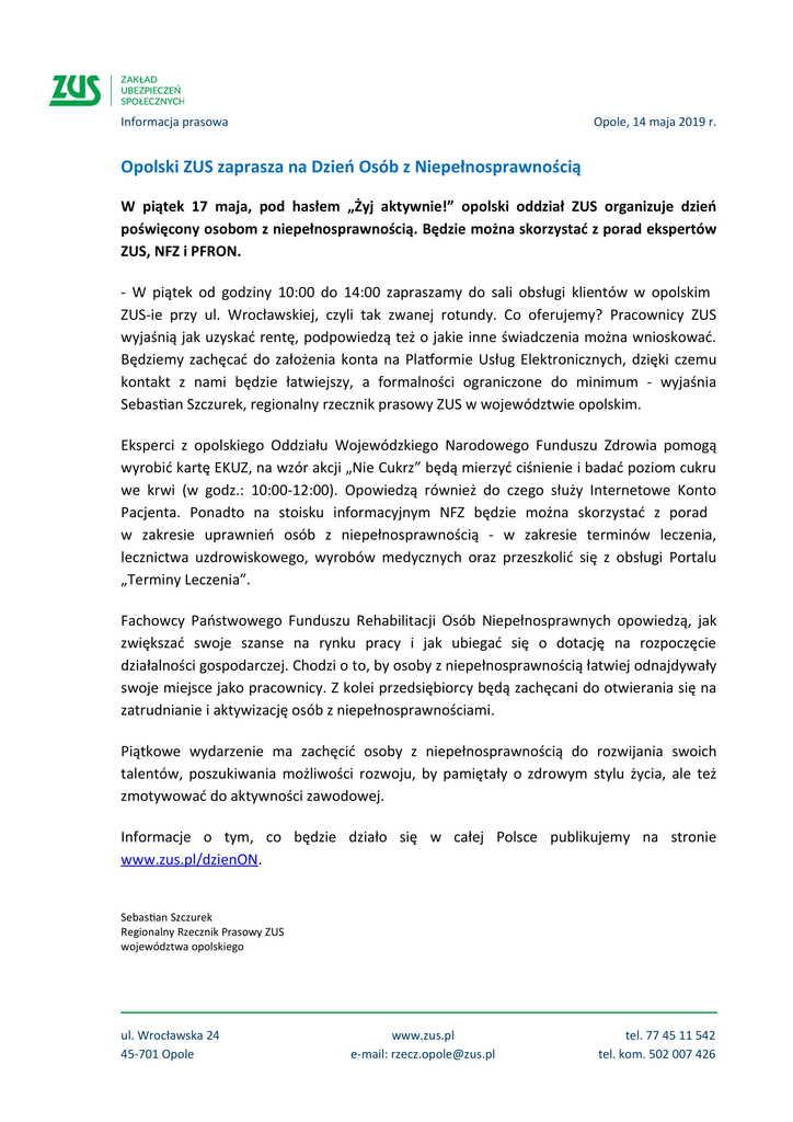 Opolski ZUS zaprasza na Dzień Osób z Niepełnosprawnością_informacja prasowa ZUS-1.jpeg