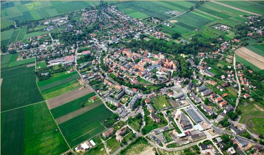 Panorama miasta Byczyna