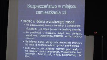 """Galeria Pogadanka dla seniorów """" Bezpieczeństwo w ruchu drogowym """""""